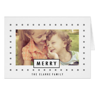 Modern Merry | Holiday Photo Greeting Card