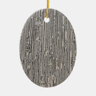 Modern metal static style design in silver grey. ceramic oval ornament