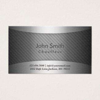 Modern Metal Stripes Chauffeur Business Card