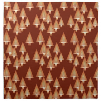 Modern metallic Christmas trees - copper Napkins