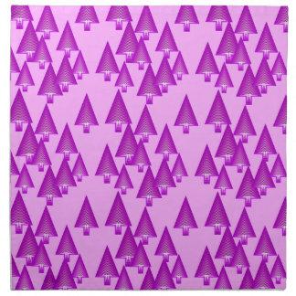 Modern metallic Christmas trees - violet Cloth Napkins