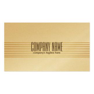 Modern Metallic Gold Design Stainless Steel Business Card