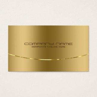 Modern Metallic Gold Design Stainless Steel Look Business Card