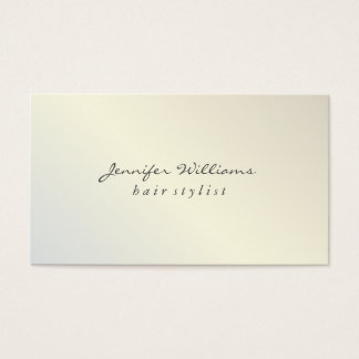 Modern Metallic Lux Business Card