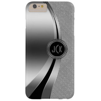 Modern Metallic Silver & Diamonds Glitter Barely There iPhone 6 Plus Case