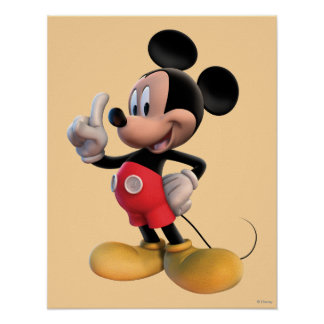 Modern Mickey | Finger Up Poster