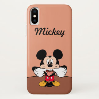 Modern Mickey | Sticking Out Tongue iPhone X Case