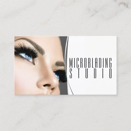 Modern microblading eyebrows permanent makeup business card modern microblading eyebrows permanent makeup business card reheart Choice Image