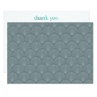 Modern Midcentury Thank You Card
