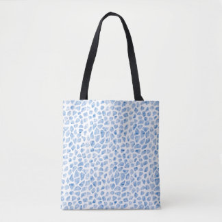 Modern Minimal Animal Print Blue Watercolor Tote
