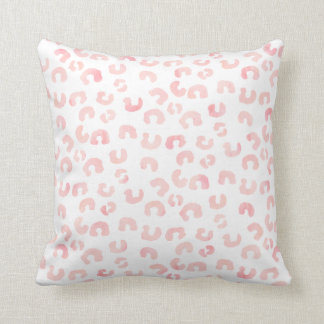 Modern Minimal Animal Print Pink Watercolor Pillow