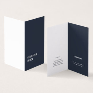 Modern Minimal Blue White Consultant Card