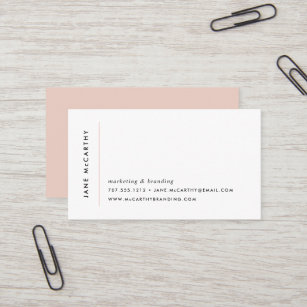 Business cards business card printing zazzle canada modern minimal business cards blush reheart Images