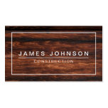 MODERN & MINIMAL DARK WOOD - CONSTRUCTION PACK OF STANDARD BUSINESS CARDS