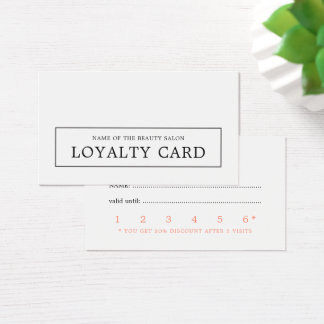 Modern Minimal Elegant Beauty Loyalty Card