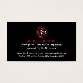Modern Minimal Firefighter | Fire Inspector Business Card