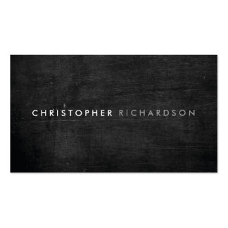 MODERN & MINIMAL on BLACK WOOD Pack Of Standard Business Cards