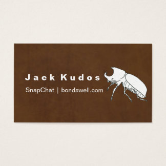 MODERN & MINIMAL RHINO BEETLE PERSONAL NETWORKING BUSINESS CARD