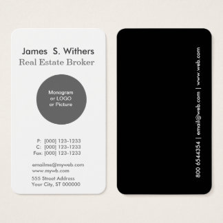 Modern Minimal Simple Round Logo Professional Business Card