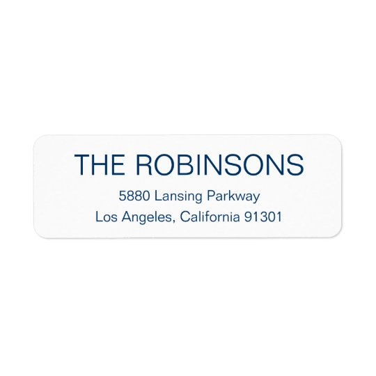 Modern Minimalist Address Label