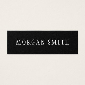 Modern Minimalist Black and White Mini Business Card