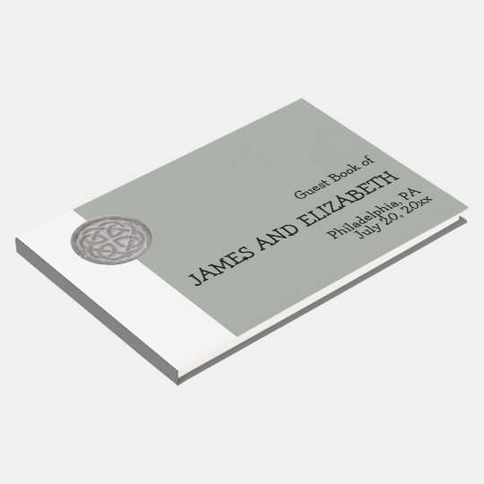 Modern & Minimalist Celtic Personalized Wedding Guest Book
