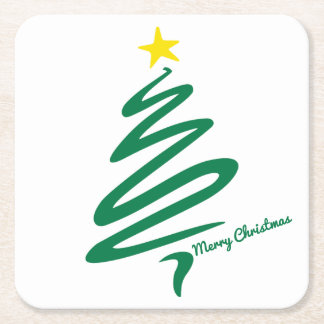 Modern Minimalist Christmas Tree Coaster