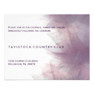 Modern Minimalist Floral Wedding Reception Card