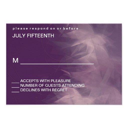 Modern Minimalist Floral Wedding Response Cards