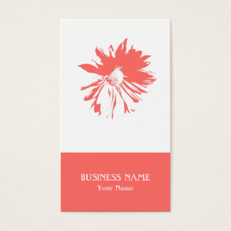 Modern Minimalist Flower Business Card