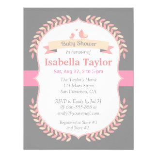 Modern, Minimalist, Girl Baby Shower Invitation Personalized Invitation