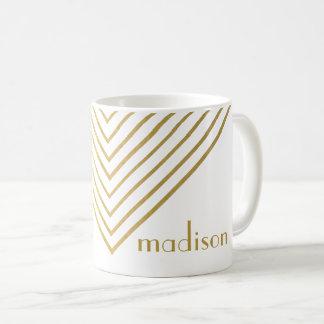 Modern Minimalist Gold Geometric Design Cup