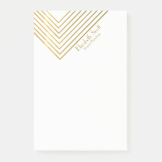 Modern Minimalist Gold Geometric Design Post-it® Notes