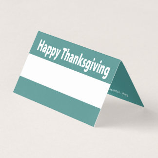 Modern Minimalist Happy Thanksgiving - Your Color Place Card