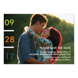 "Modern Minimalist Photo Save the Date 5"" X 7"" Invitation Card"