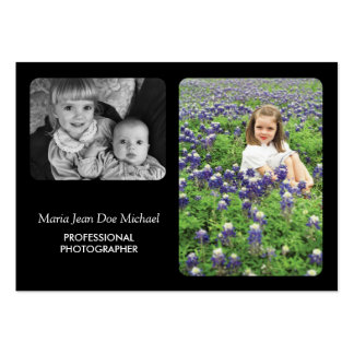 Modern Minimalist Photographer or Photo Studio Large Business Card