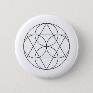 Modern Minimalist Sacred Geometry Abstract 2 Inch Round Button