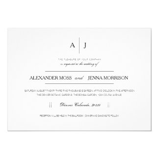 Modern & Minimalist Wedding Invite