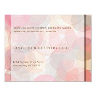 Modern Minimalist Wedding Reception Card Custom Invite