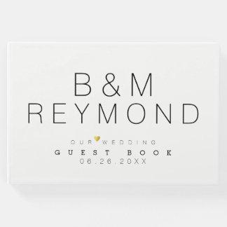 modern minimalist white elegant guest book
