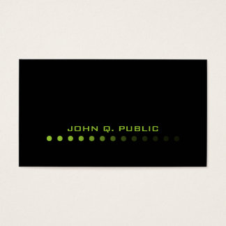 Modern Minimalistic Black/Lime Green Business Card