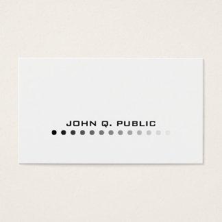 Modern Minimalistic Black/White Business Card