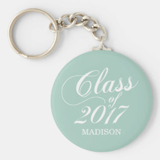Modern Mint | Graduation Keychain