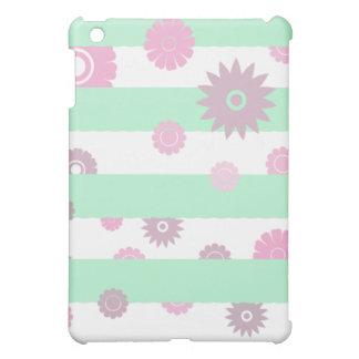 MODERN Mint Green Floral Pattern iPad case