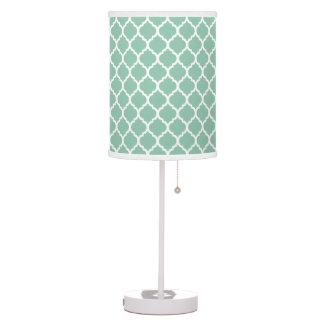 Modern Mint Quatrefoil Table Lamp
