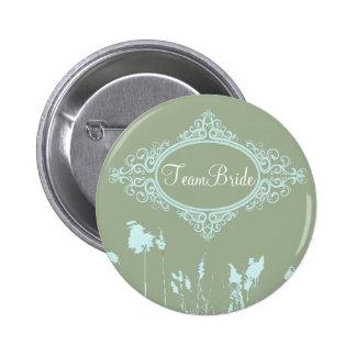 Modern MintGreen Rustic Country WeddingFavor Pinback Buttons
