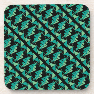 Modern Mirrored Geometric & Abstract Pattern Coaster