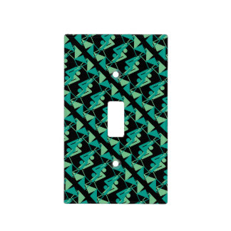 Modern Mirrored Geometric & Abstract Pattern Light Switch Cover