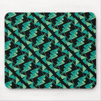Modern Mirrored Geometric & Abstract Pattern Mouse Pad
