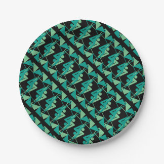 Modern Mirrored Geometric & Abstract Pattern Paper Plate